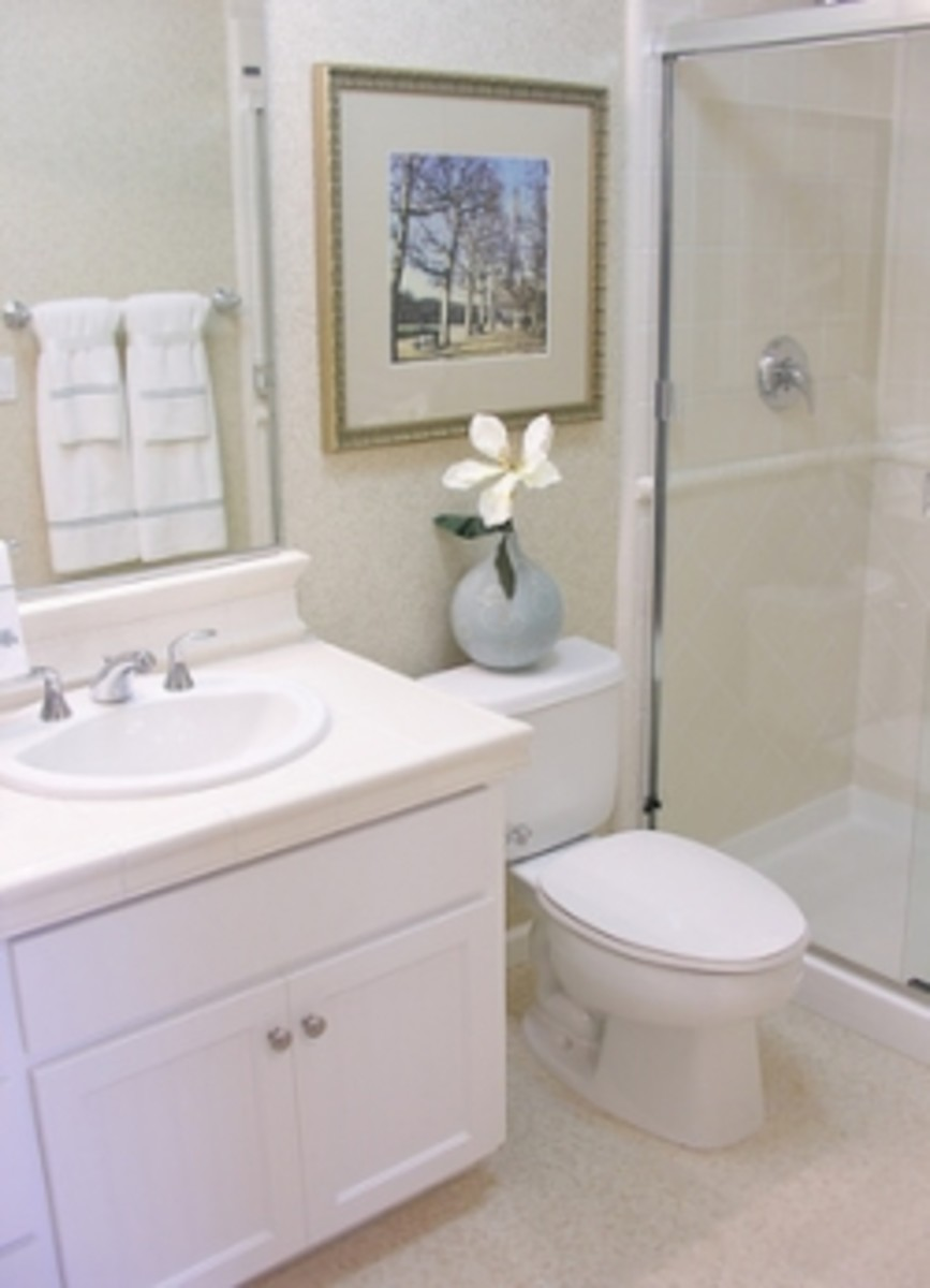 Paint your cabinets in six steps hubpages for Steps to painting a bathroom