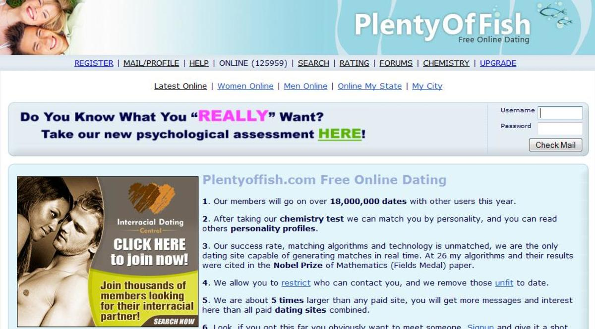 Plenty of Fish Dating Site POF
