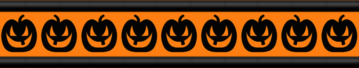 Free Halloween pumpkins scrapbook border