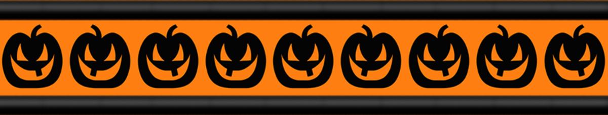 Free Halloween pumpkins scrapbook border