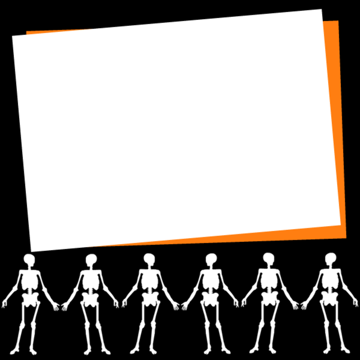 Free happy skeletons scrapbook journaling card embellishment