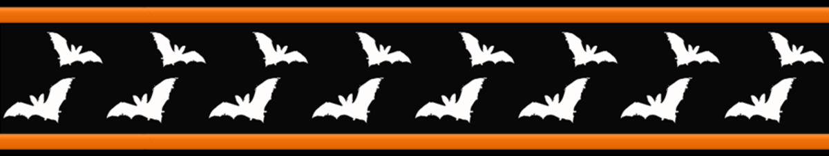 Free flying bats Halloween scrapbook border