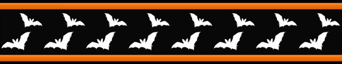 Free flying bats Halloween scrapbook border