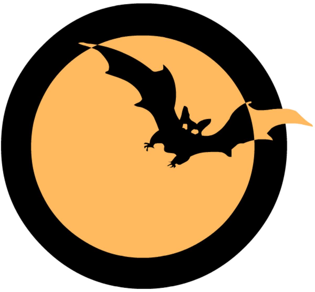 Free bat scrapbook journaling card embellishment