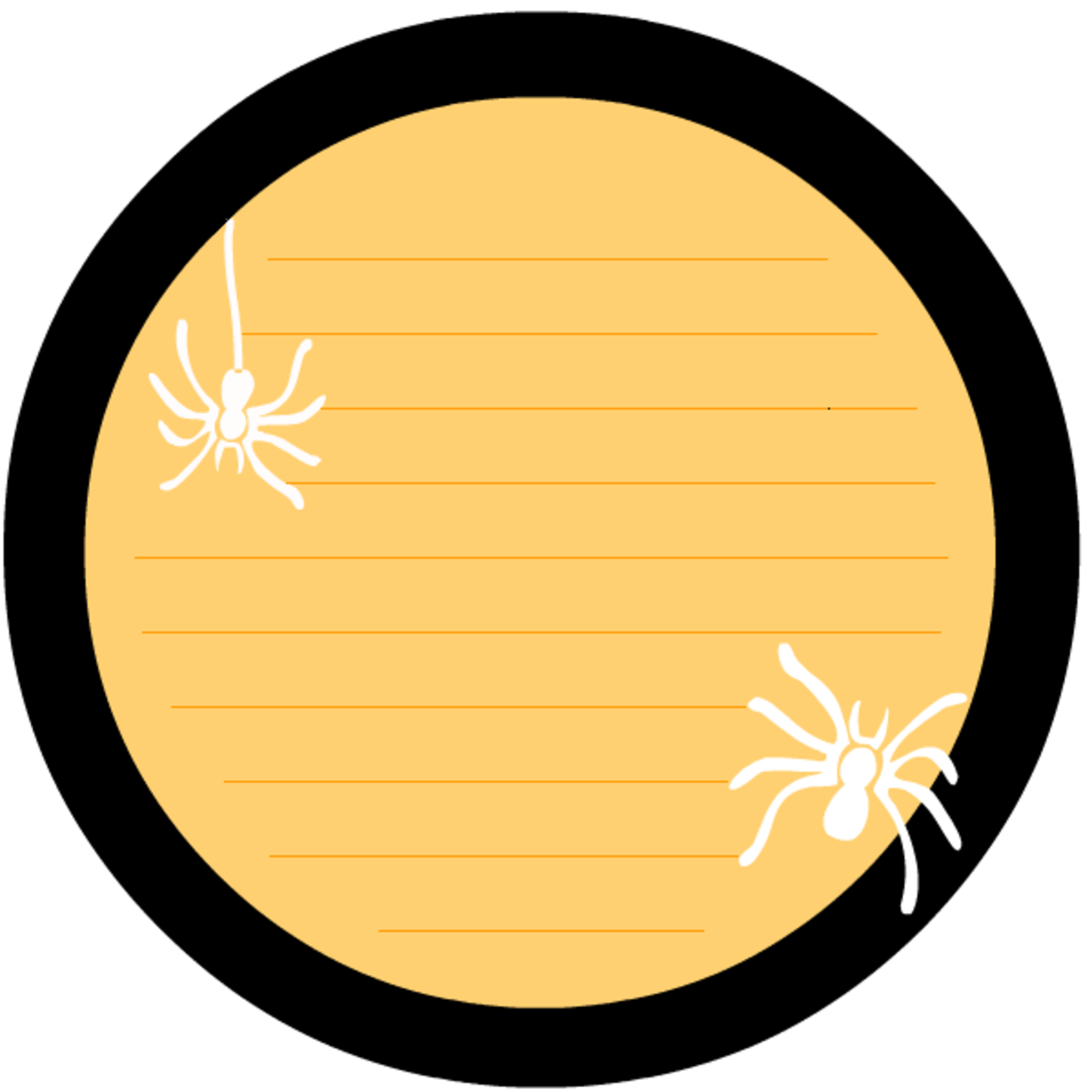 Free Halloween scrapbook journaling card embellishment with two creepy spiders