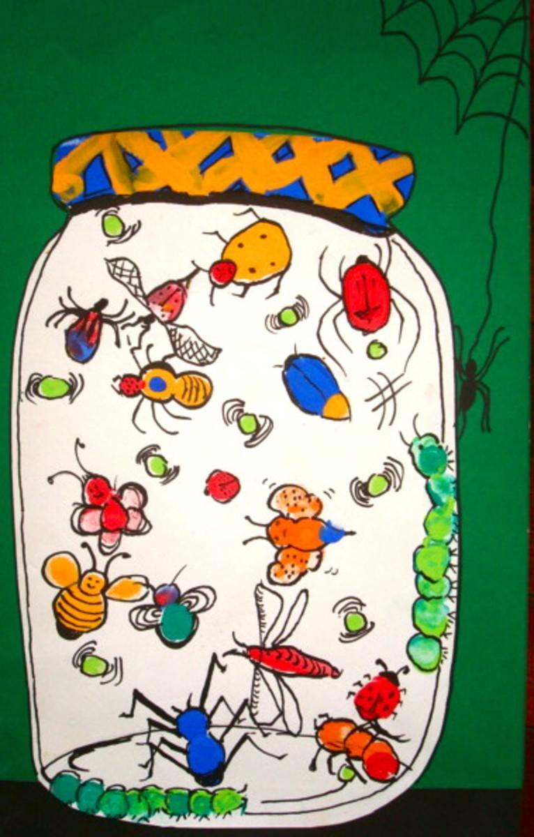 kids-art-project---thumbprint-bugs