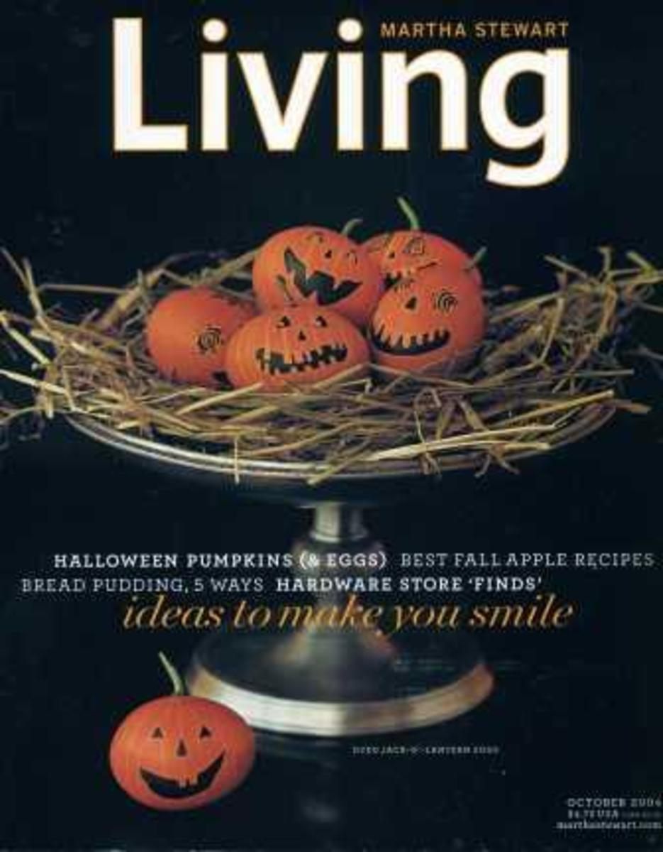 Martha Stewart October 2004 AND Halloween Special Edition Magazines