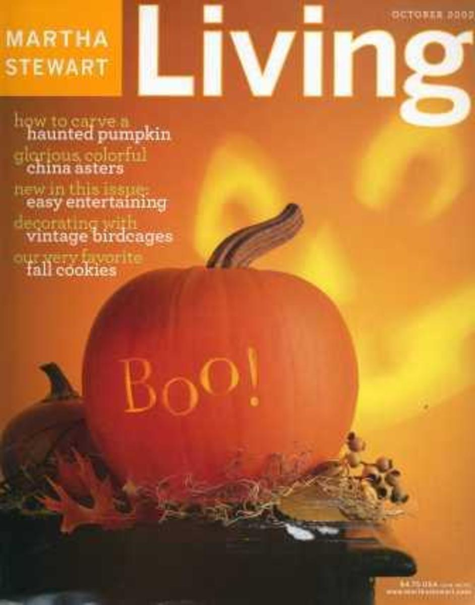Martha Stewart October 2002 Halloween Magazine