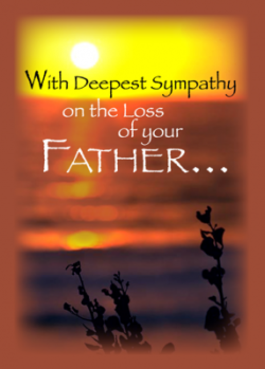 Sympathy for Loss of Father
