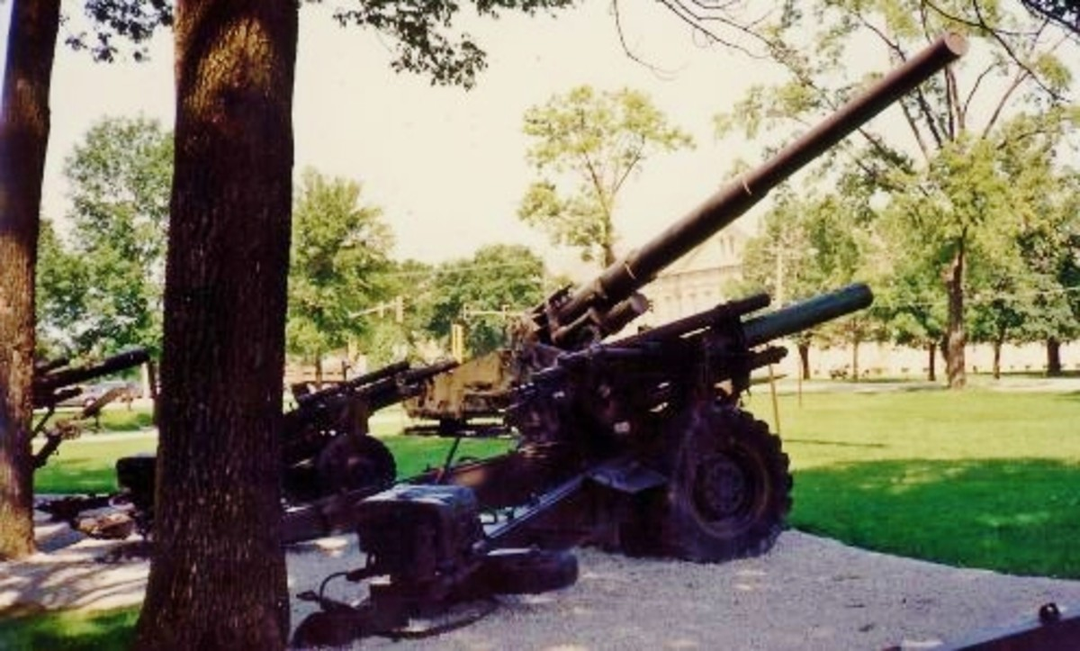 War equipment seen on the Rock Island Arsenal grounds