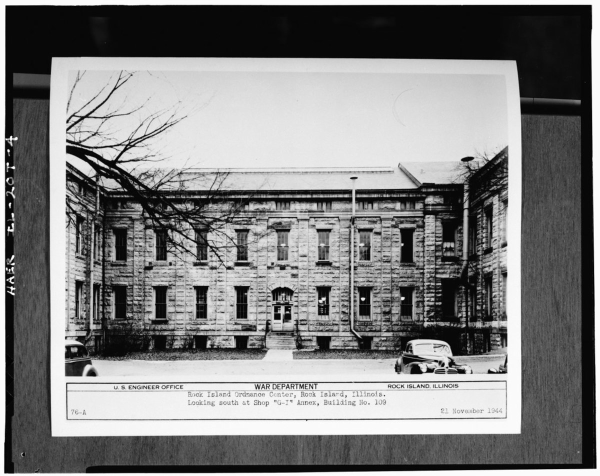 Photograph of a photograph in possession of Rock Island Arsenal Historical Office.