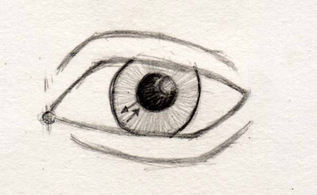 how to draw eyes looking to the right