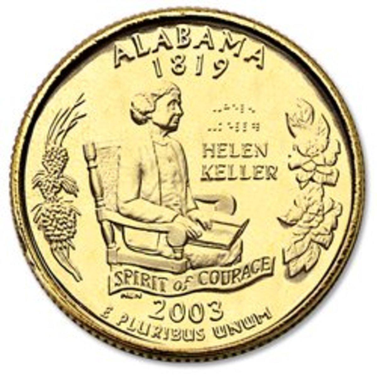 Helen Keller coin.