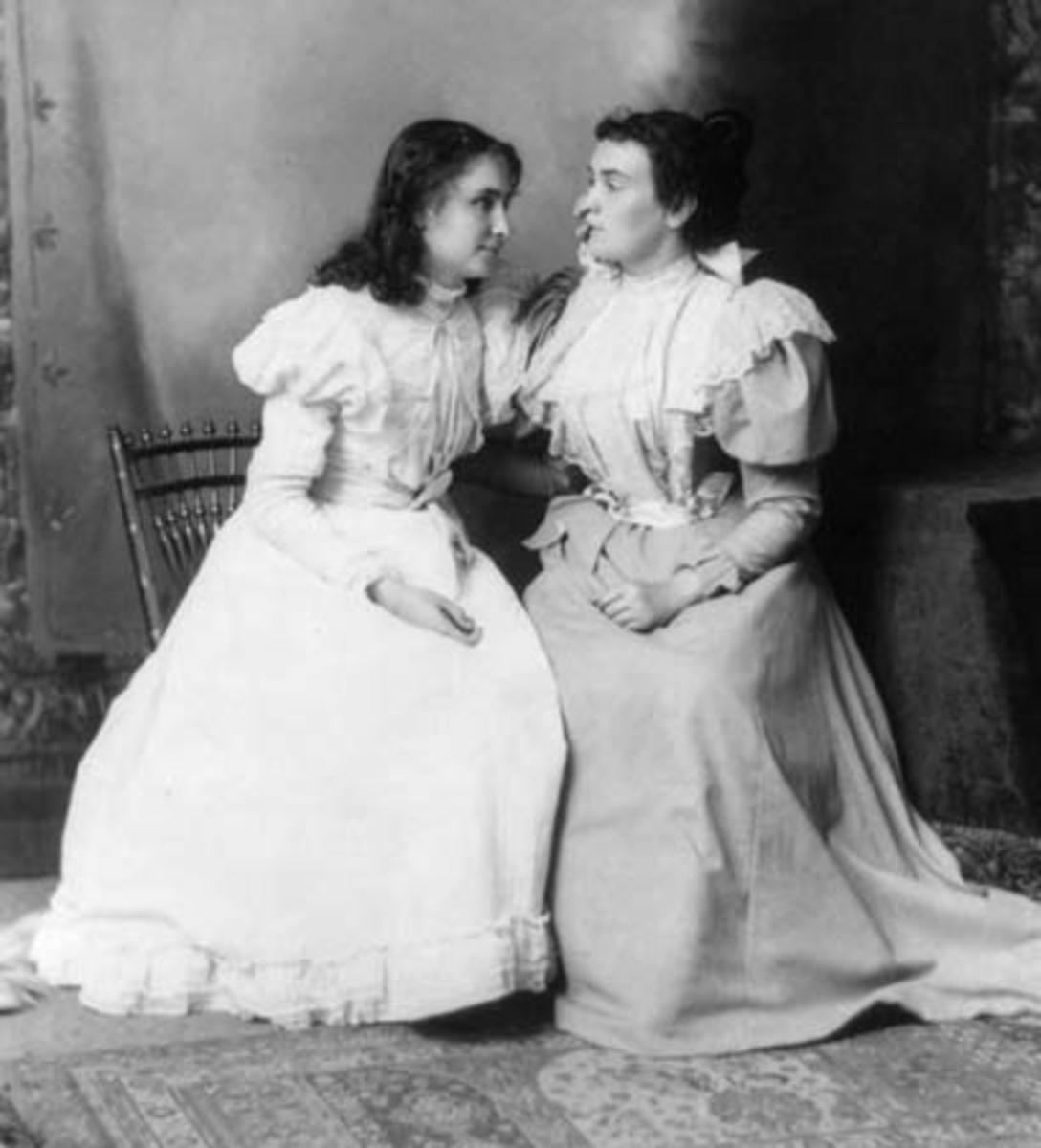 Helen and Anne Sullivan, her teacher.