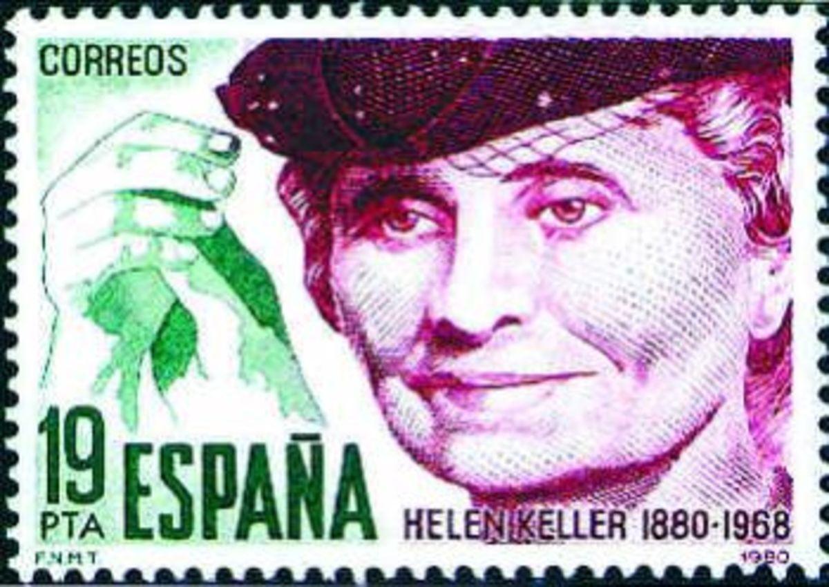Helen Keller stamp.