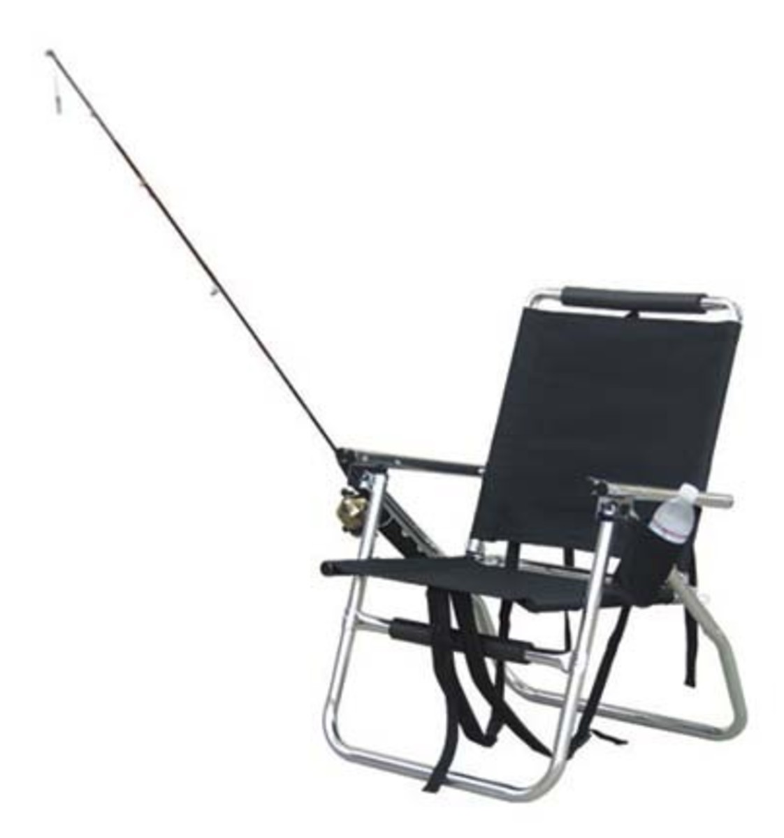 fishing chair with rod holder and cup holder