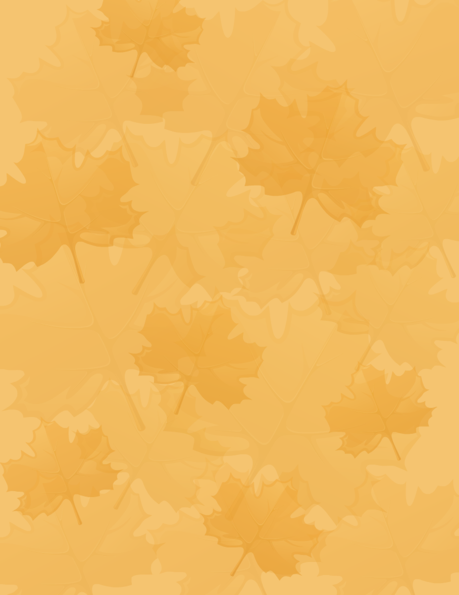 Free subtle fall leaves on orange background free scrapbooking paper