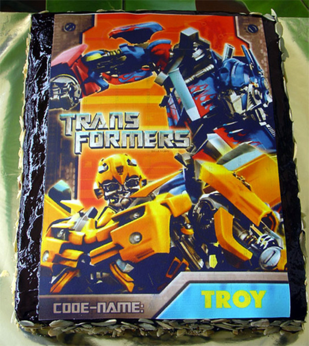 transformers birthday cake photo