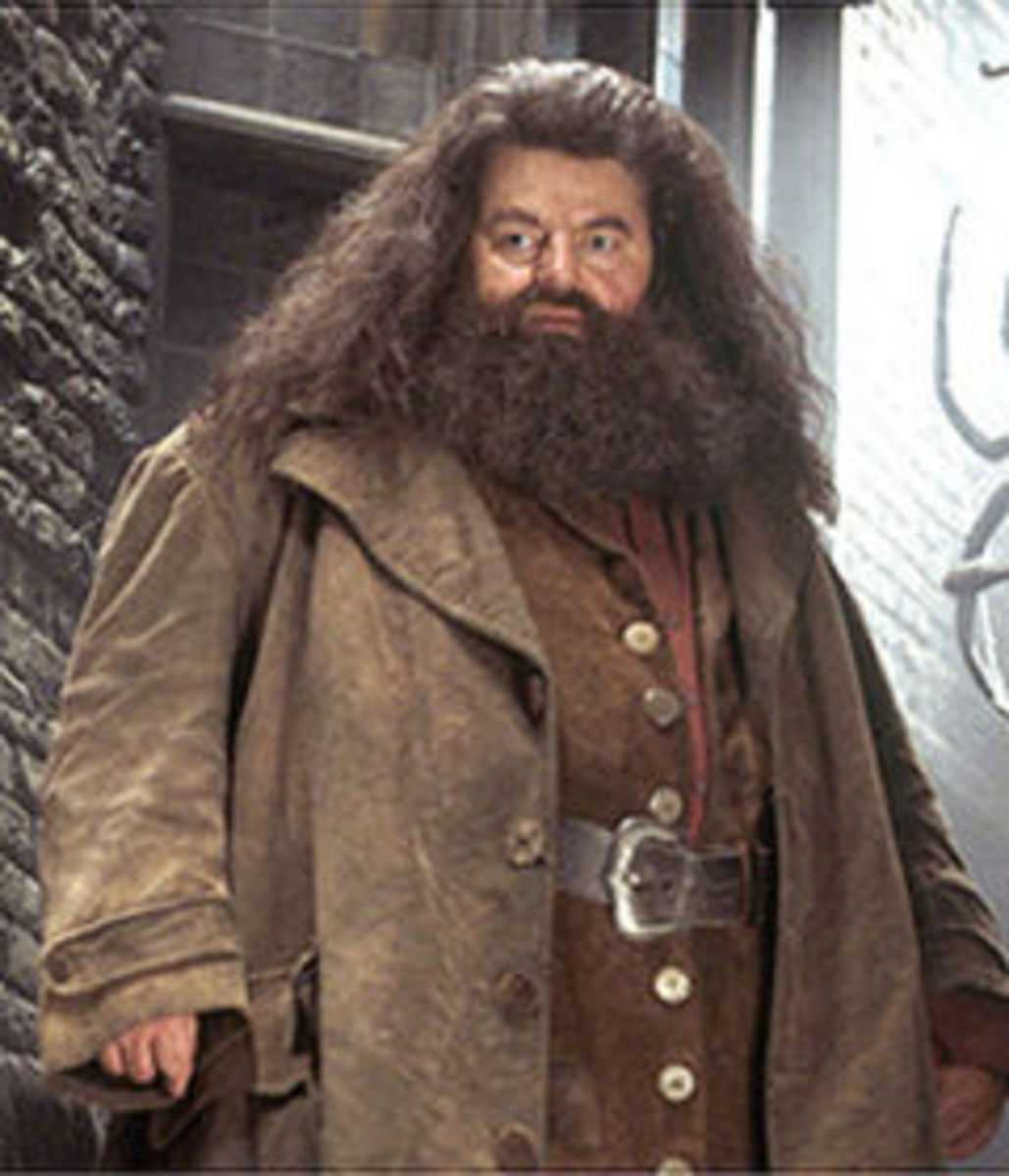 Actor Robbie Coltrane as Rubeus Hagrid