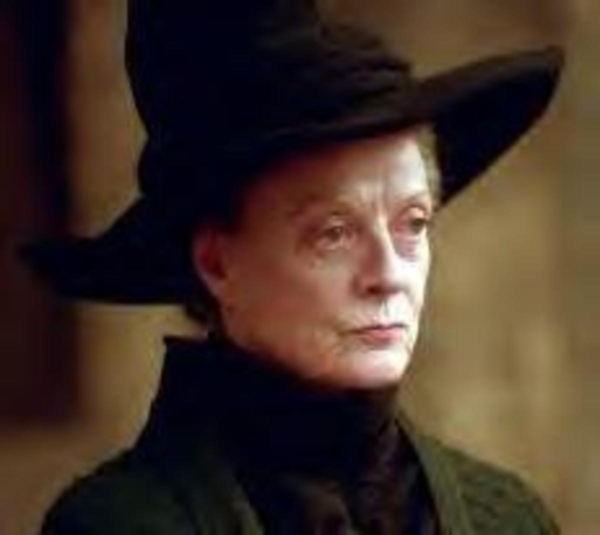 Actress Maggie Smith as Professor McGonagall