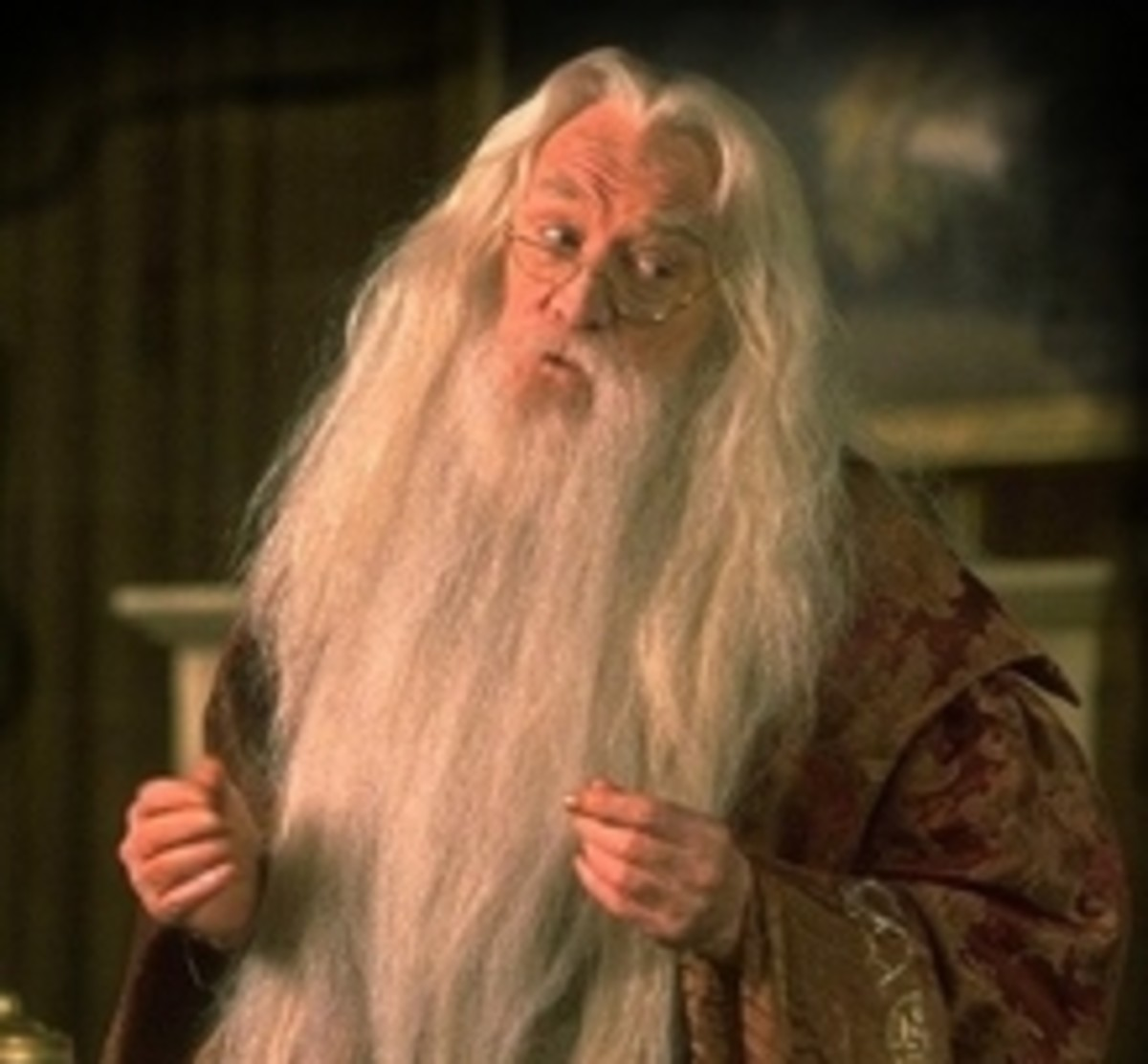The late Richard Harris as Albus Dumbledore