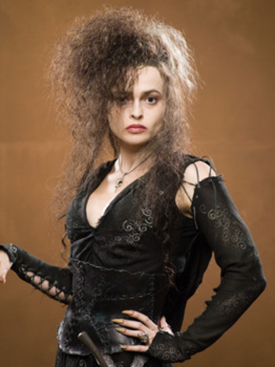 Actress Helena Bonham Carter as Bellatrix Lestrange