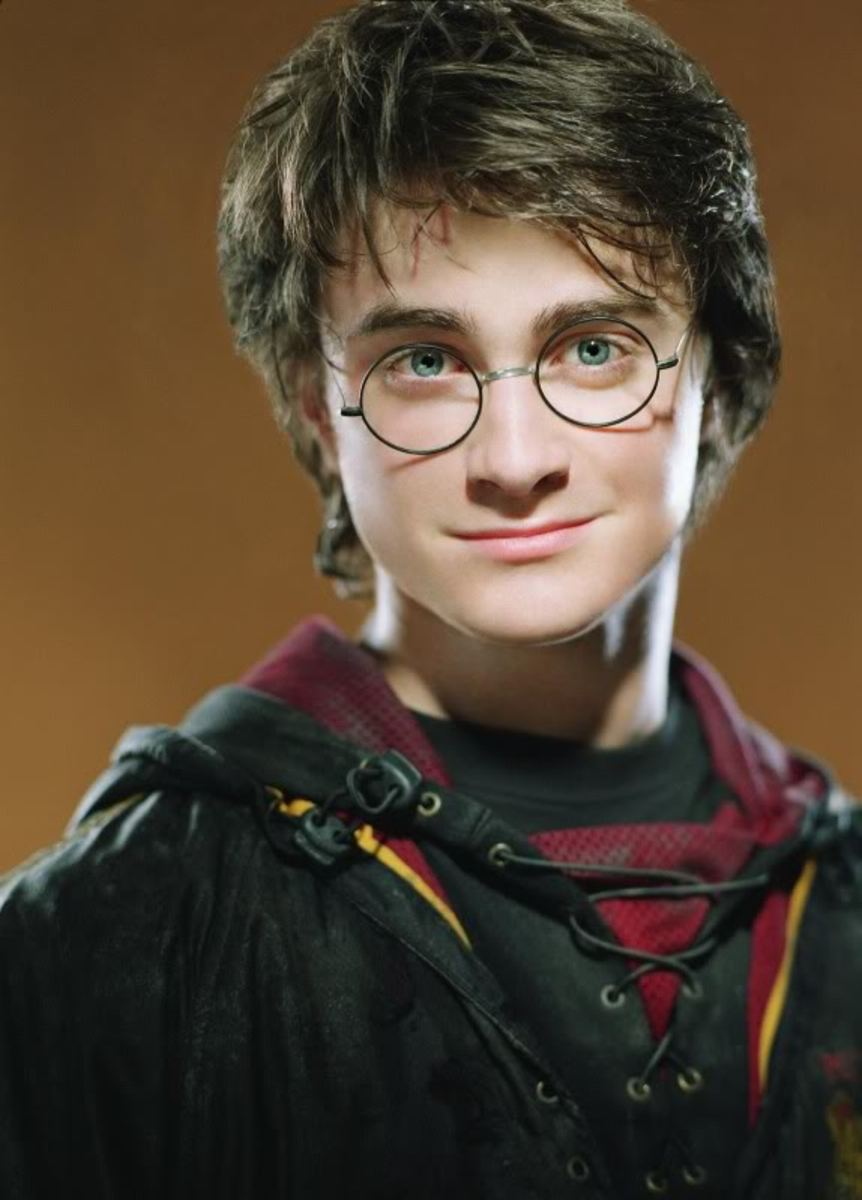 Actor Daniel Radcliffe as Harry Potter
