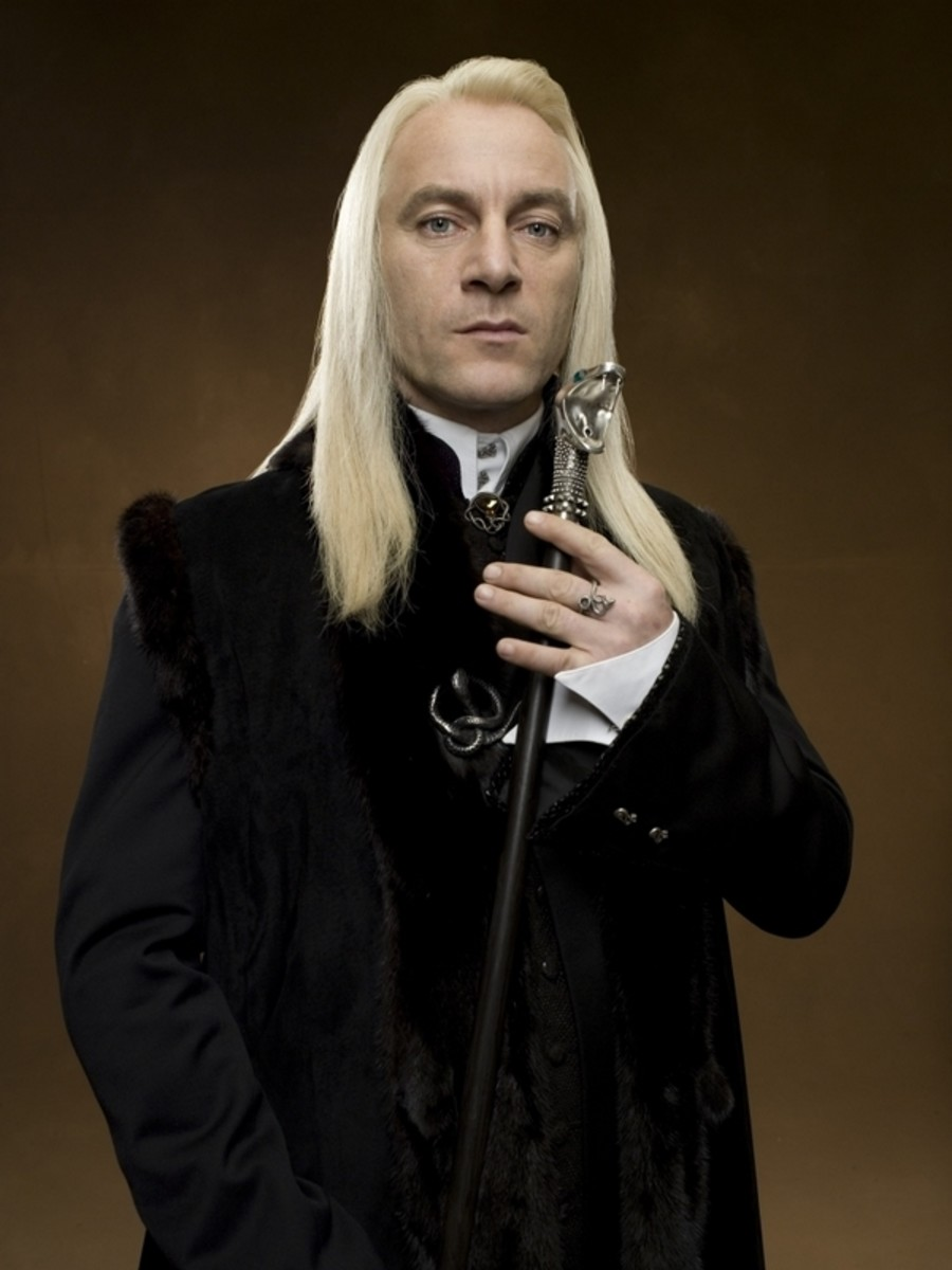 Actor Jason Isaacs as Lucius Malfoy