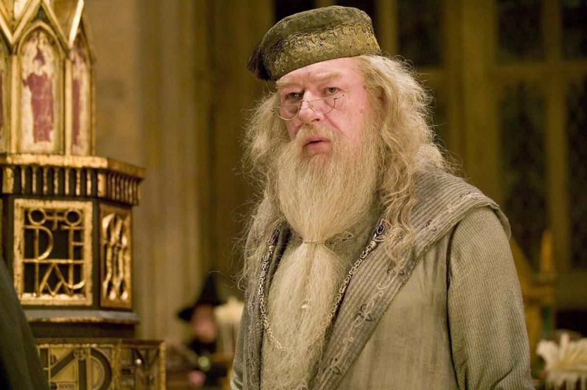 Actor Michael Gambon as Albus Dumbledore