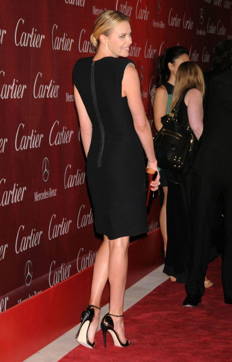 Charlize Theron in a little black dress for a movie premiere