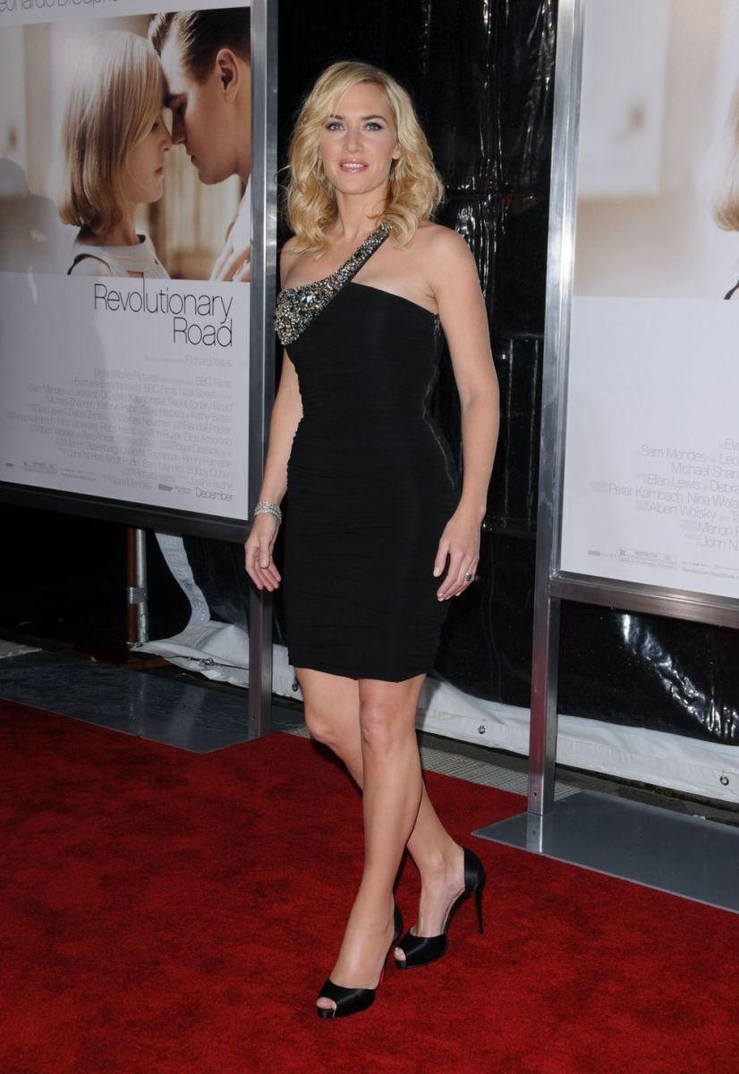 Kate Winslett in a perfect little black dress