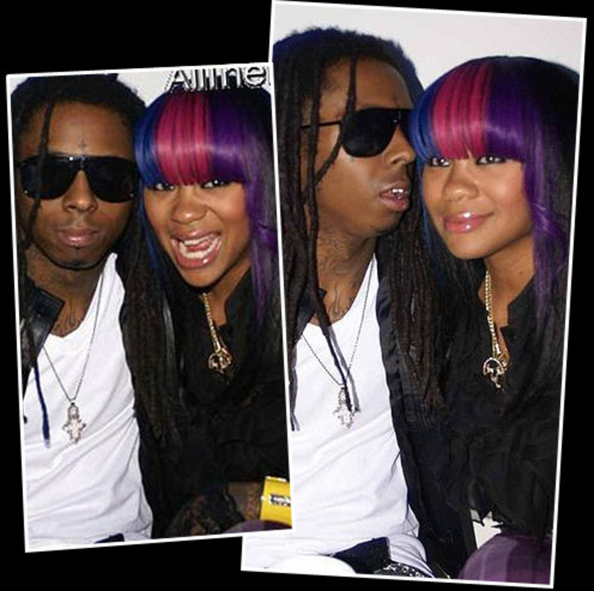 Lil Wayne And Nivea Looking Happy