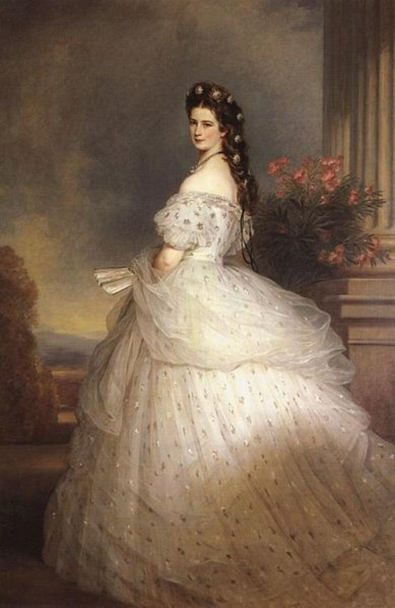 Empress Elisabeth of Austria, a fashion icon of the 1860s and 70s. Source: Wikipedia
