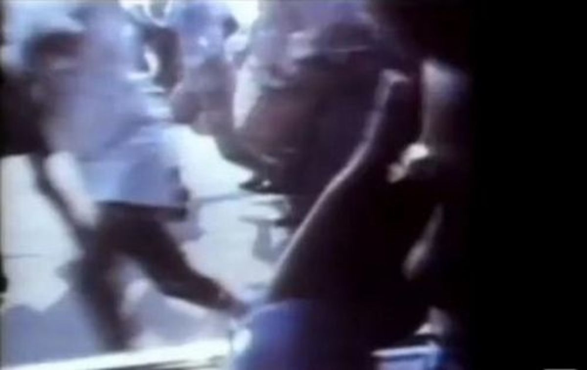 Young Michael Jackson being chased by fans