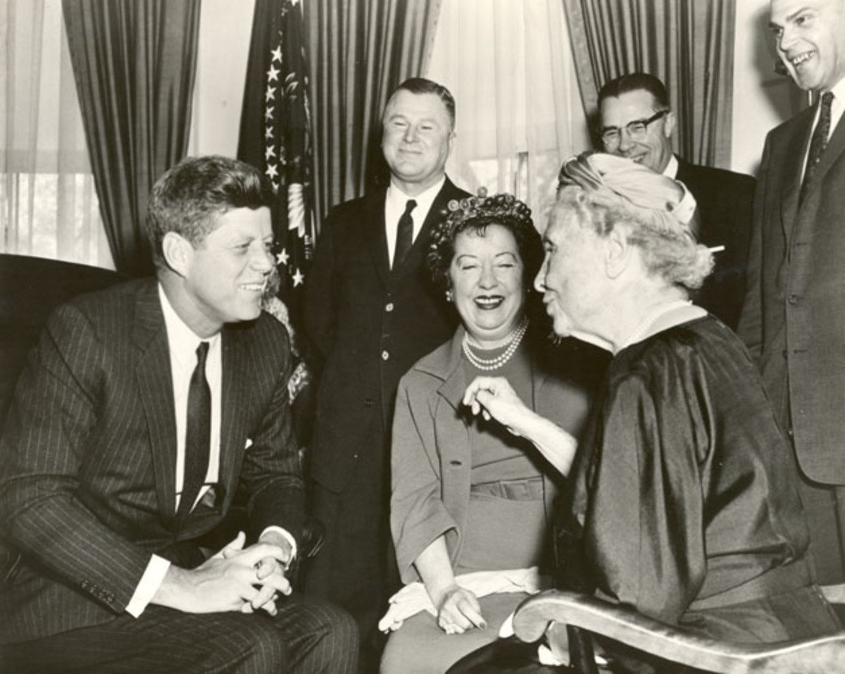 Helen Keller with John F. Kennedy