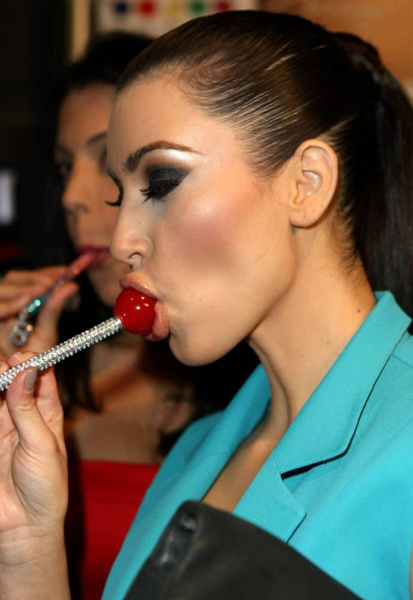 eating lollipop