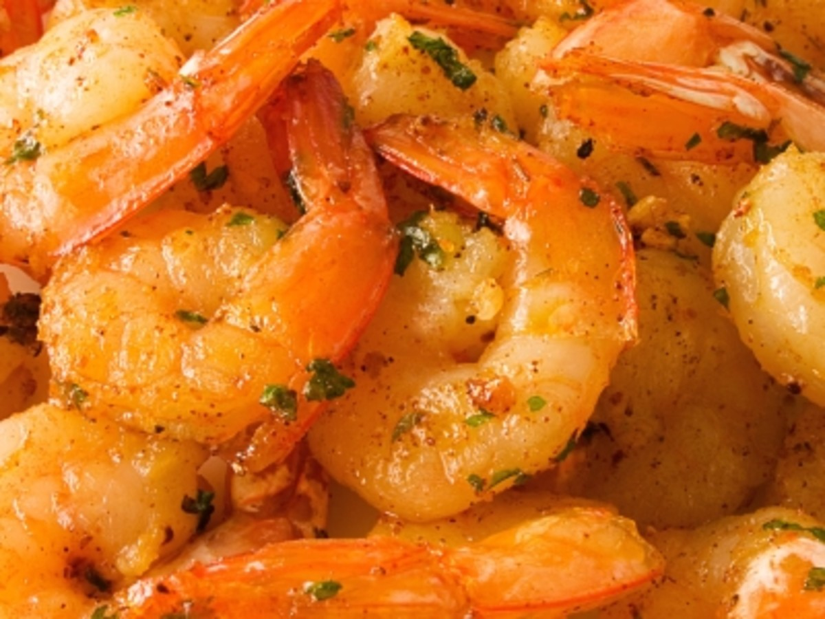 shrimp with Italian dressing