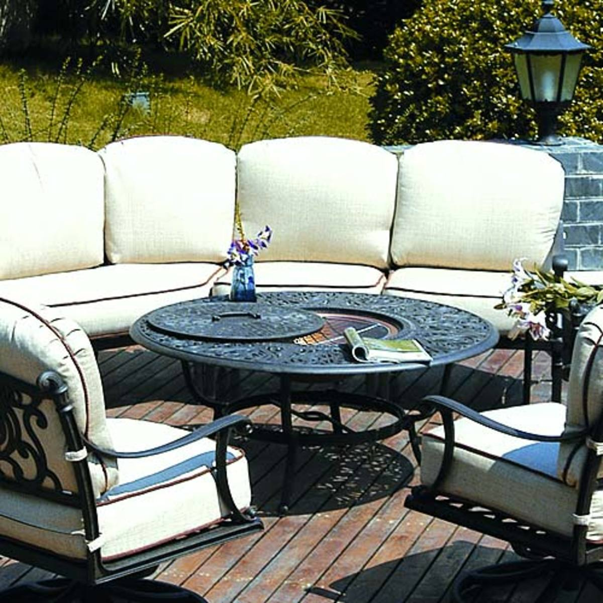 Convertible Outdoor Gas Fire Pit Table