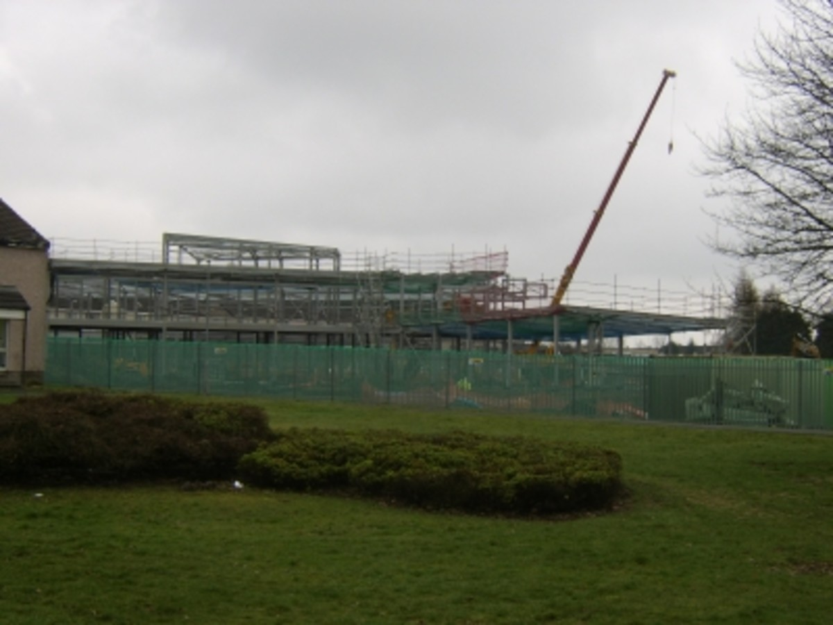 Coltness Primary School's Replacement Under Construction - 4/3/2011