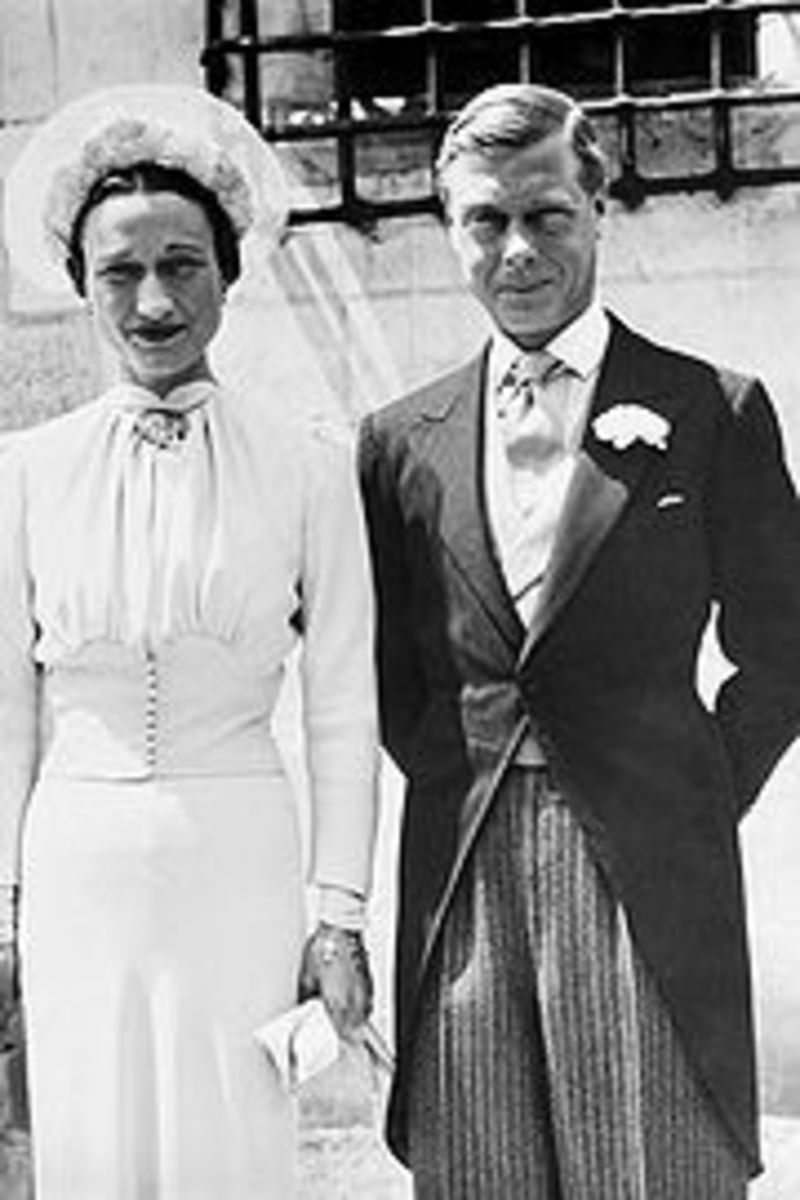 The Windsors on their wedding day