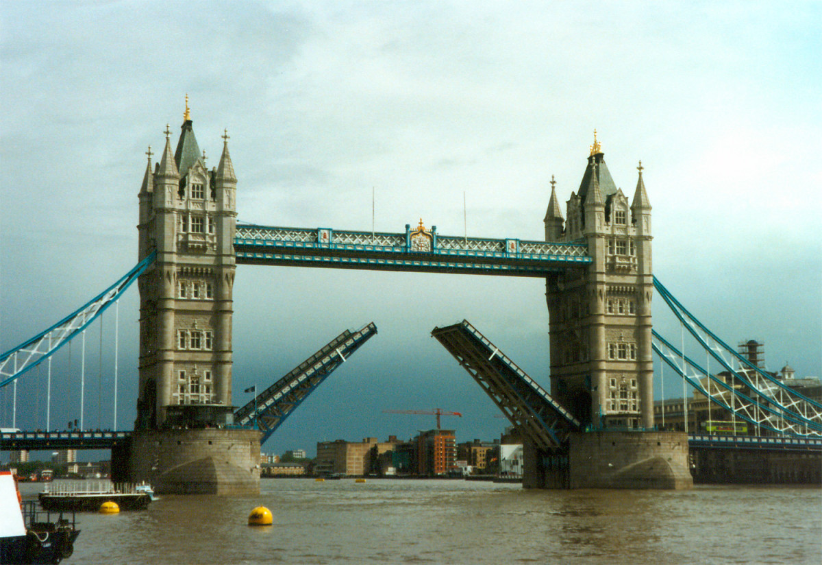 The London Tower Bridge in London, England