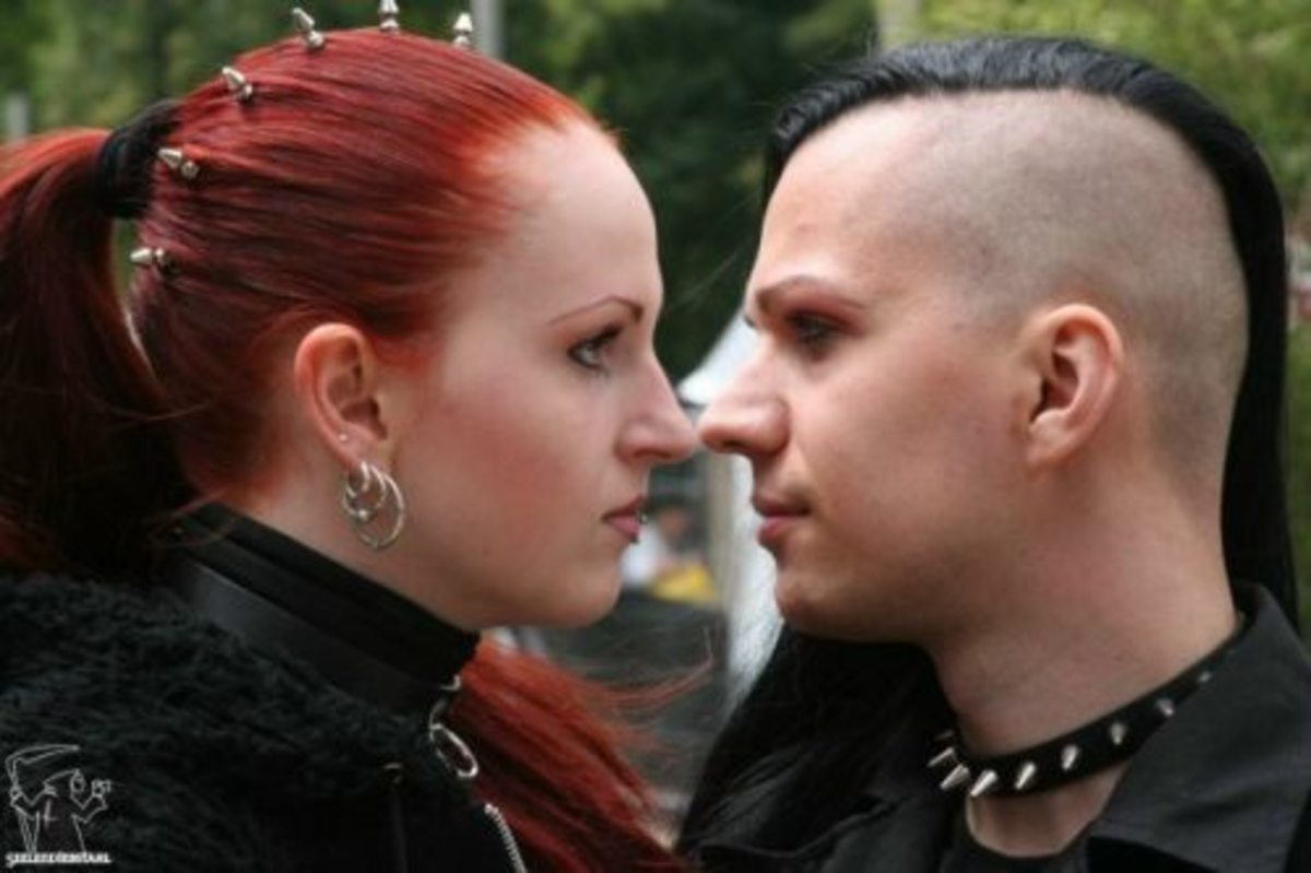 Different Gothic hairstyles. See all 8 photos
