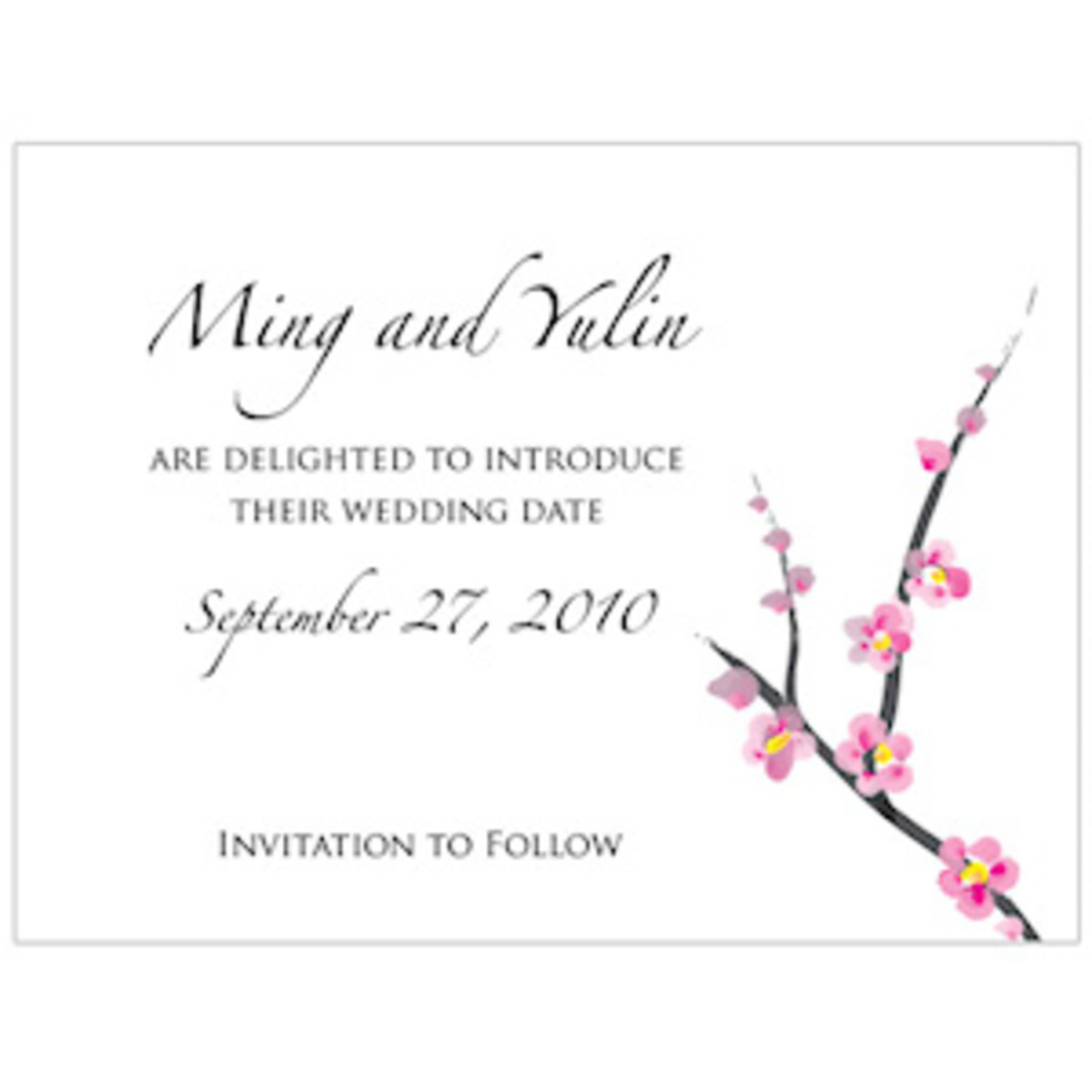 Personalized Save The Date Cards.