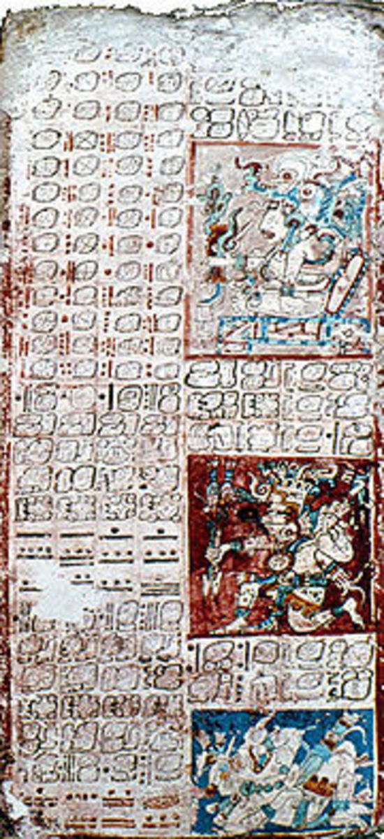Page 2 of the Dresden Codex. You should, when looking at this copy, be able to imagine the difficulties that scholars have when trying to work with or work out the Mayan calendar. The Mayans didn't write, so much as draw.