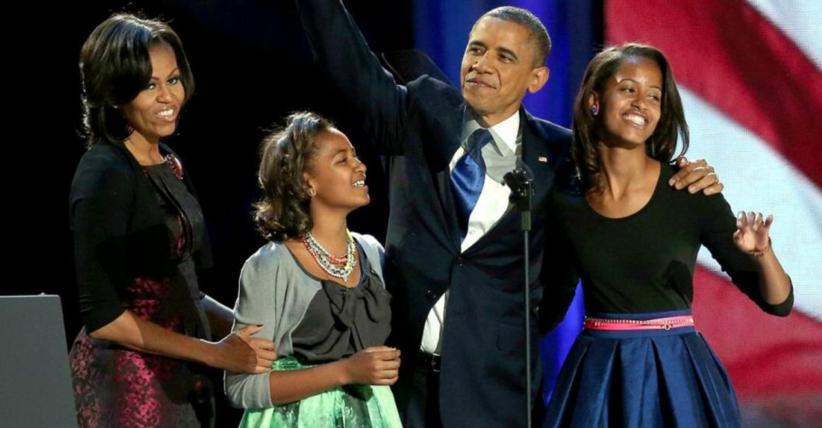 The Obama Family is a very joyous and re-elected moment; the girls have grown up significantly from the past four years on the same victory stage with their father, and mother...