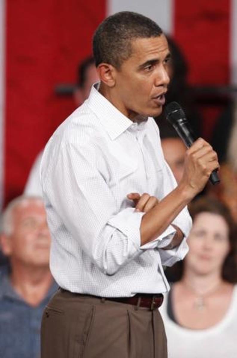 Obama talking about change and the projecting change in the United States