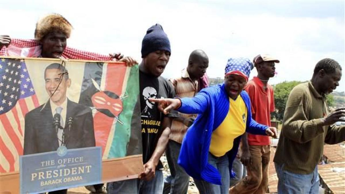 Celebrations of Obama's victory in Kenya were off-the-hinge...