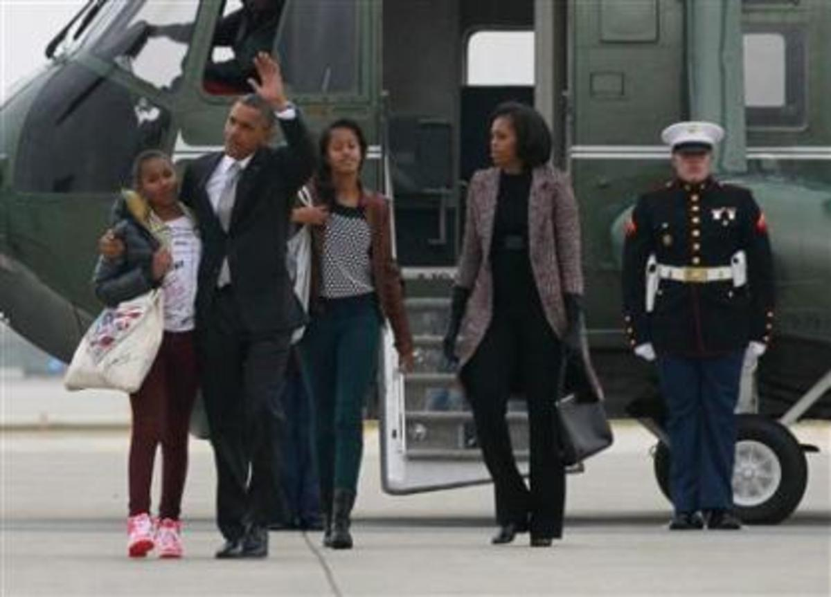The Obama Family headed back to the White house for their second term stay there...