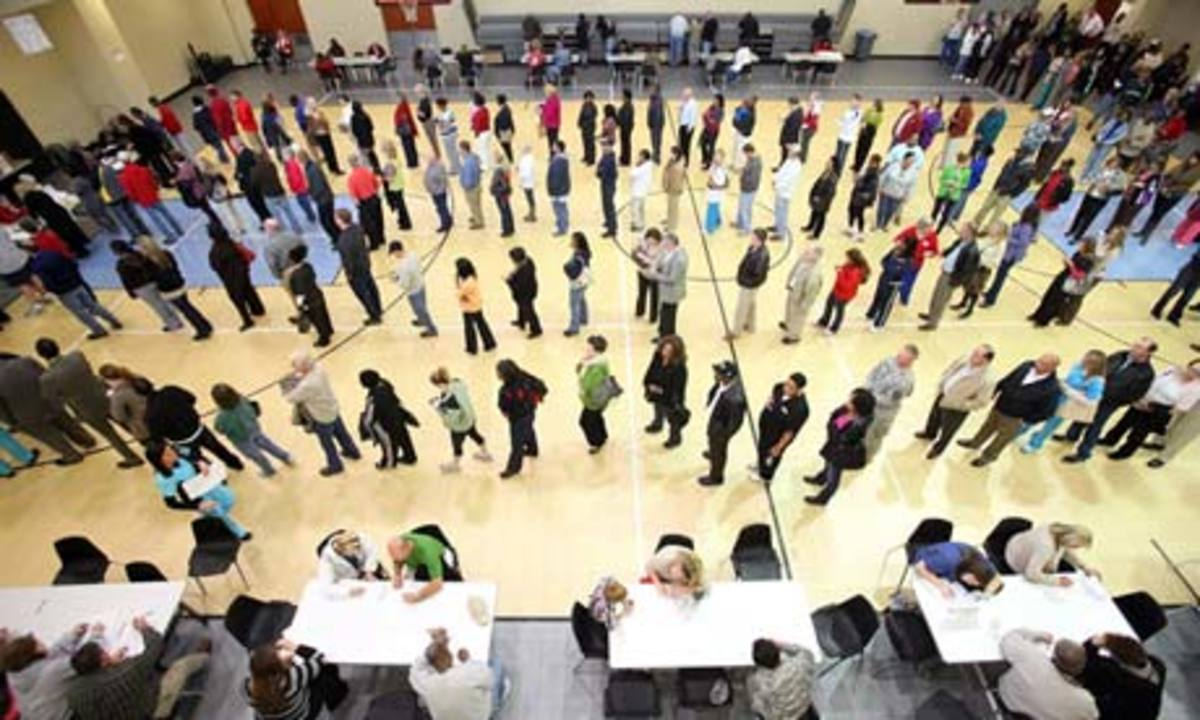 Long lines, which were unecessarily caused by Republicans trying to block and discourage voters, but this did not catch, and th poor and all types of Americans came out and voted in full force- reinstating Obama for the second time in the Presidentia