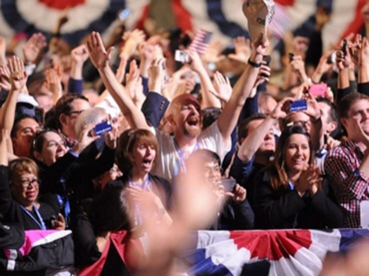 The euphoria when Obama was re-elceted in 2012...